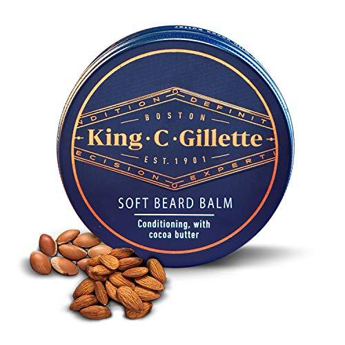 King C. Gillette Beard Grooming Balm for Men with Cocoa Butter, Argan Oil & Shea Butter, 100 ml