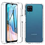 BESINPO Cover Samsung A12 / M12 6.5', Cover Samsung Galaxy A12 / M12 Trasparente Antiurto 360...