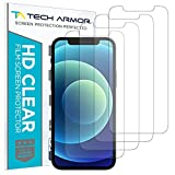 Tech Armor HD Clear Plastic Film Screen Protector (NOT Glass) for Apple NEW iPhone 12 (6.1') and iPhone 12 Pro (6.1') - Case-Friendly, Scratch Resistant, Haptic Touch Accurate [4-Pack]