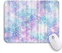 ZOMOY マウスパッド 個性的 おしゃれ 柔軟 かわいい ゴム製裏面 ゲーミングマウスパッド PC ノートパソコン オフィス用 デスクマット 滑り止め 耐久性が良い おもしろいパターン (カラフルなギャラクシーシーシェルキラキラ)