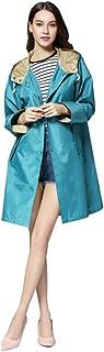 (ワンース) Wansi レインコート レディース レインポンチョ 袖付き 晴雨兼用 ロングコート 軽量 可愛い 通気 旅行 観戦 アウトドア
