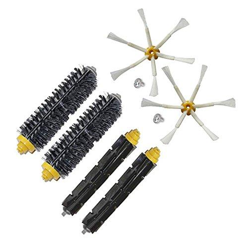 Kit ruote anteriori e kit spazzole per iRobot Roomba 500 600 700 Serie 529 550 595 620 625 630 650 660 760 770 780 790 Accessori per aspirapolvere (Genere 2)