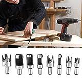 Brocas de corte para madera de acero al carbono.