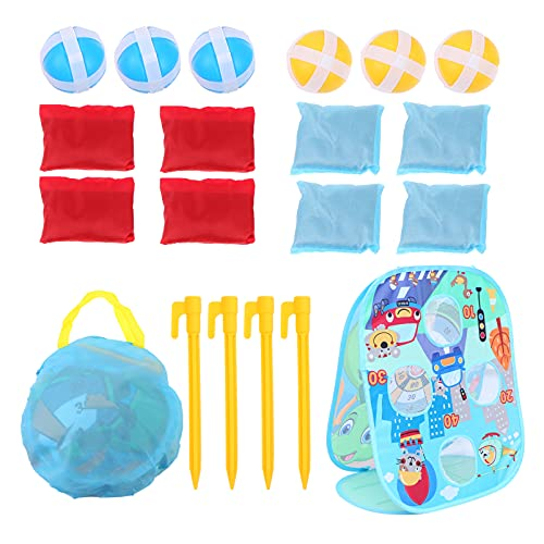 TOYANDONA 1 Set Toss Game Banner Animal Toss Game with 6 Bean Bags Fun Carnival Birthday Christmas Party Game for Kids Adults Garden Outdoor (Random Color of Bean Bags)