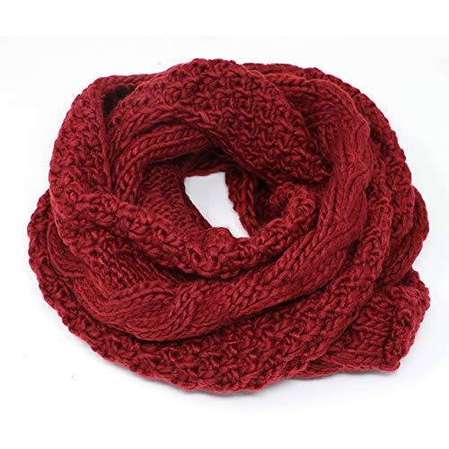 Tacobear Loop sjaal dames gebreide sjaal wintersjaal grof gebreide sjaal ronde sjaal zachte warme sjaal voor dames