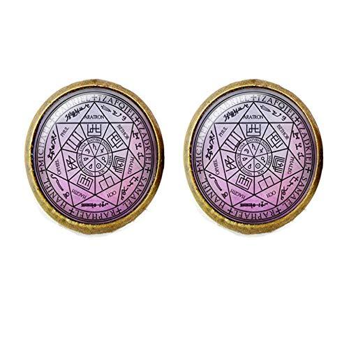 Pendientes de amuleto de protección de siete ángeles
