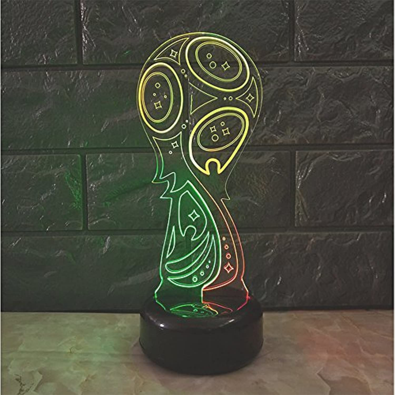 European 3D Acryl Fuball Atmosphre Lampe World Cup Trophy RGB Bunte LED Schreibtischlampe Kinder Familie Touch-Funktion Und USB-Aufladen Nachtlicht