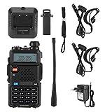 Carnaval de San Valentín 128 Canales de Memoria Ajustable, walkie Talkie, Bloqueo de Teclas Integrado VHF UHF walkie Talkie, comunicación Manos Libres(100-240V European Standard)