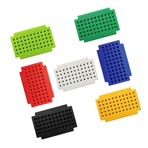 MagiDeal 7 Pièces Zy-55 Points Mini Platine Électronique d'Essai Breadboard Multicolore