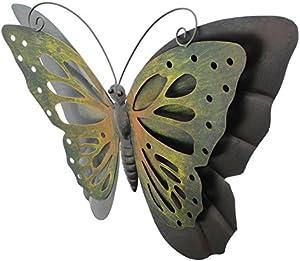 TFH Wanddeko Schmetterling bunt Metall Wandverzierung Gartendeko modern ausgefallen Deko