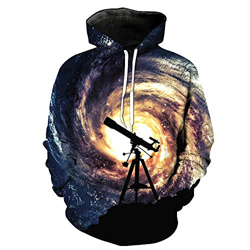 Sudadera Capucha Hombre Telescopio Star Vortex 3D