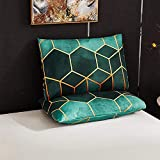 Shamdon Home Collection Federa per cuscino 40 x 80 cm, set di 2 federe super morbide di alta qualità, in microfibra, colore: verde