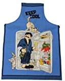 Tobeni 1708-010 delantal Keep Cool para barbacoas y cocina en algodón 100