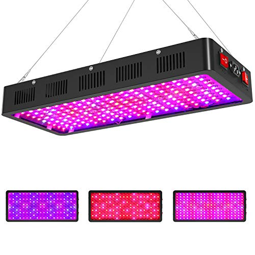 Sunnewgrow 2000w LED Grow Light for Indoor Plants, Triple-Chips & Dual Switch...