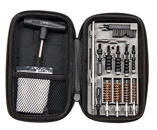Smith & Wesson Accessories Compact Cleaning Kit di Pulizia per Pistola Smith & Wesson, Adulti Unisex, Nero, Unico