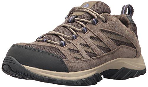Columbia Women's Crestwood Hiking Shoe, Mud, Fairytale, 8 B US