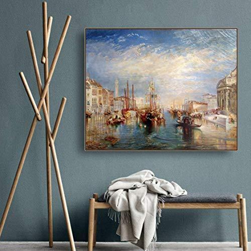 Danjiao Canal Grande Von Joseph Mallord William Turner Landschaftsmalerei Leinwand Kunst Moderne Wohnkultur Ölgemälde Wandkunst Bild Wohnzimmer 40x60cm