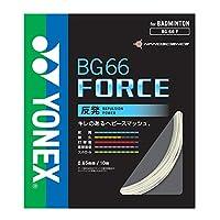 ヨネックス(YONEX) バドミントン ストリングス BG66フォース (0.65mm) BG66F-2 ホワイト ロール200m