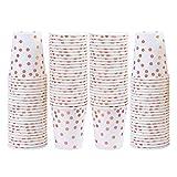 Elcoho - Bicchieri di carta usa e getta, per feste, matrimoni, anniversari, 100 pezzi Colore A.