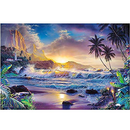 AIIHZ DIY 5D Diamond Painting Kits Mountain Water Scenery Wall Art Cross Stitch Picture Embroidery Mosaic Handmade Home Decoration Gift-80cmx100cm