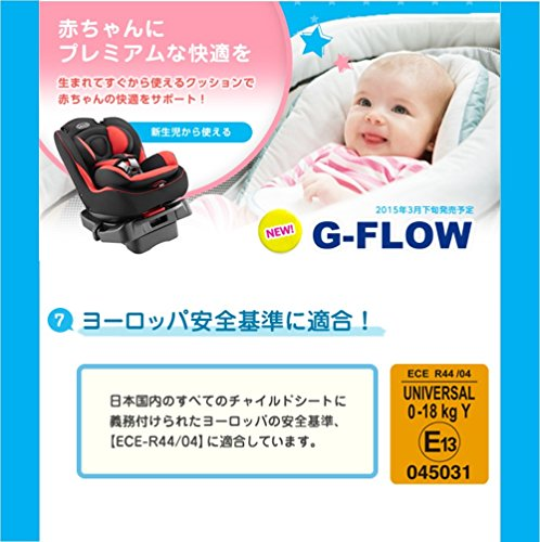 GRACO(グレコ)チャイルドシートG-FLOW(ジーフロウ)レッドRD【3段階リクライニング+ふわっとクッション搭載】67194