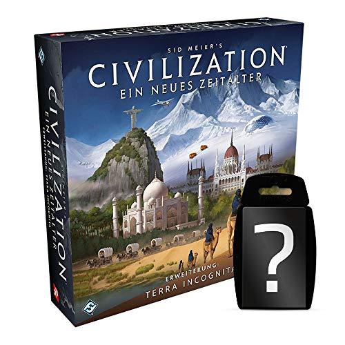 Civilization - Ein neues Zeitalter - Terra Incognita - Erweiterung DEUTSCH | Set inkl. Kartenspiel