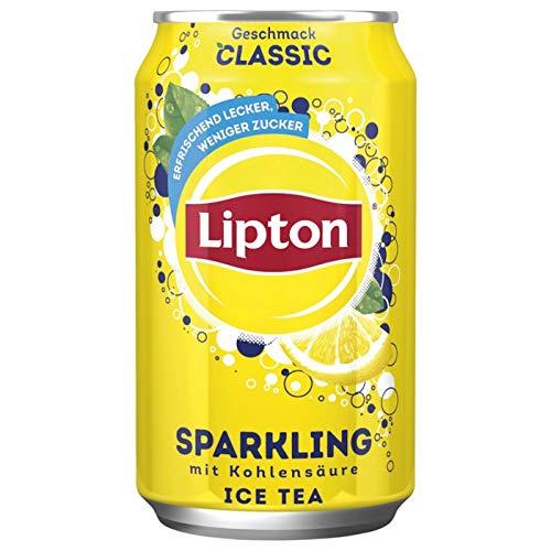 24 Dosen Lipton Ice Tea Classic Sparkling Icetea Eistee 24 x 0,330ml Dosen inc.6,00€ EINWEG Pfand