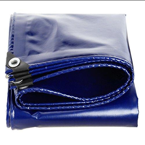 DGF Bâche Imperméable À L'eau Double-face Anti-Corrosion Voiture Toile Jardinage Pest Control Pest Control Toit Spécial Isolation Tissu Bleu 550g / M2 100% Étanche UV Protection