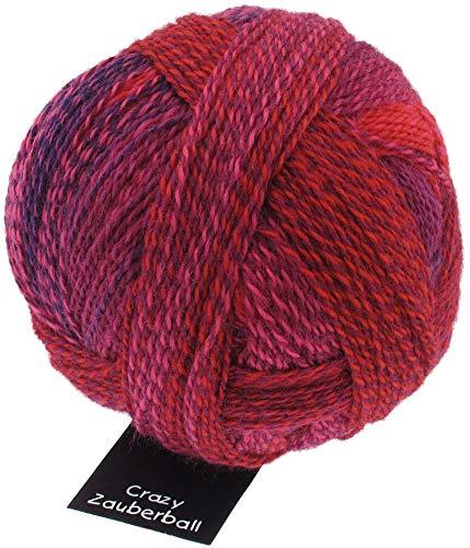 Schoppel Zauberball Stärke 6, Farbe 2404 Tiefe Wasser, 150 Gramm, bunte, dicke Sockenwolle 6-fädig mit Farbverlauf, Socken stricken, häkeln