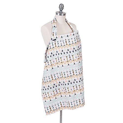 Bebe au Lait Premium Cotton Nursing Cover, Lightweight and Breathable Cotton, Open Neckline, One Size Fits All - Santa Fe