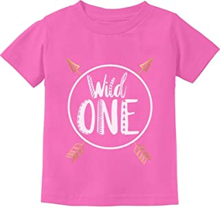 Wild One Baby Boys Girls 1st Birthday Gifts One Year Old Infant Kids T-Shirt - Pink - 18M