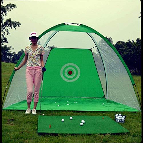 PHEZEN Golf Net Golf Hitting Nets,Indoor Outdoor Golf Practice Net or Backyard Driving,Golf Hitting Cage Garden Grassland Practice Tent Golf Training Equipment (Green)
