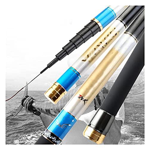ZXQ Caña de pescar duradera y ligera, multiusos, caña de pescar portátil, para exteriores, para agua salada o agua dulce, 9 m