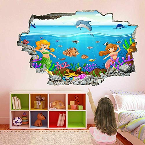 Cartoon Dolphin Fish Underwater Wall Art Sticker Mural Decal Kids EB19