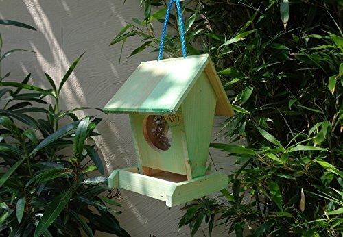 Futterhaus BTV-VOFU1K-moos001 PREMIUM Vogelhaus Futterstation XXL moosgrün grün für Nützlinge Biogarten, als Ergänzung zum Meisen Nistkasten Meisenkasten oder zum Insektenhotel, für Vögel, Vogelhäuschen / Vogelvilla zum Hängen und Aufstellen von BTV - 2