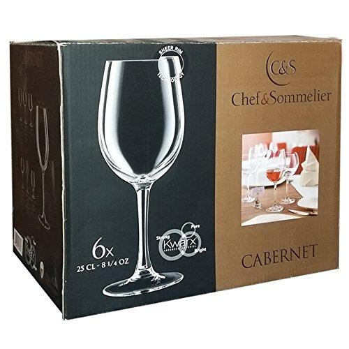 Chef e Sommelier Cabernet Lot de 6 verres à vin rouge blanc 25 cl