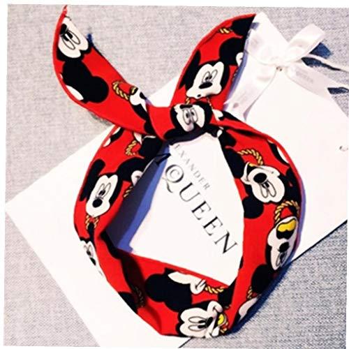 GGOOD Arcos para Los Oídos De Mickey Minnie Accesorios para El Cabello Diadema para Los Oídos Accesorios del Pelo De Mickey Mouse con Banda De Regalo para Los Niños