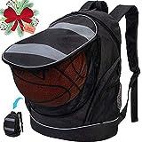 Basketball Backpack, Soccer Bag with Ball Holder Football...