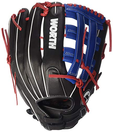 Worth XT Extreme Slowpitch Softball Glove, 13 inch, Pro H Web, Right Hand Throw