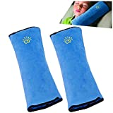 2PC Seat Belt Pillow for Kids, Baby Seatbelt Pillow, Seat Belt Pillows for Toddler Travel, Kids Travel Seat Belt Pillow, Kids Seatbelt Pillow for Booster. (Blue)