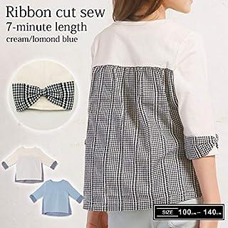 [トリドリー] 袖リボン付き 七分丈カットソー 子供服 キッズ 女の子