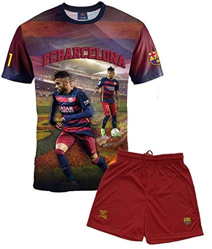 FC Barcelona Jungen-Trikot und Kurze Hose, Neymar, Nr. 11, offizielle Kollektion, Kindergröße - 8 Jahre