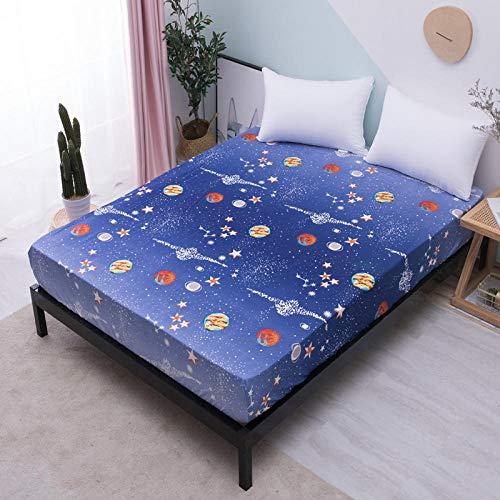 GTWOZNB Premium Microfibre Fitted Waterproof bed sheet cartoon printing-3_107X190cm_