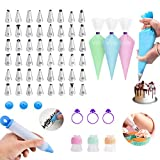 106pcs Cake Decorating Tools Sets with 50 Disposable Pastry Bags, 48 Numbered Icing Tips, 1 pcs...