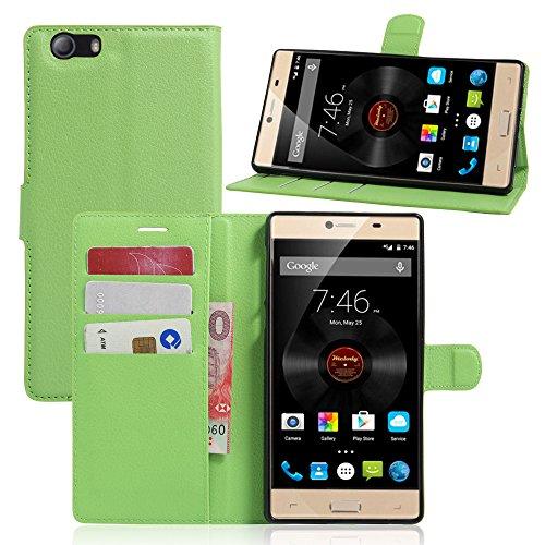 Litao-Case CN Hülle für Elephone M2 hülle Flip Leder + TPU Silikon Fixierh Schutzhülle Case 5