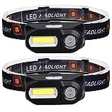JOOLEE LED Stirnlampe Kopflampe(2 Pack) USB Wiederaufladbare Mini stirnlampen Wasserdicht Kopflampe Leichtgewichts Perfekt fürs Laufen,Joggen, Angeln, Campen, für Kinder und mehr