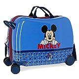 Disney Mickey Moods Maleta Infantil Rojo 50x38x20 cms Rígida Poliéster Cierre combinación 34L 2,1Kgs 4 Ruedas Equipaje de Mano