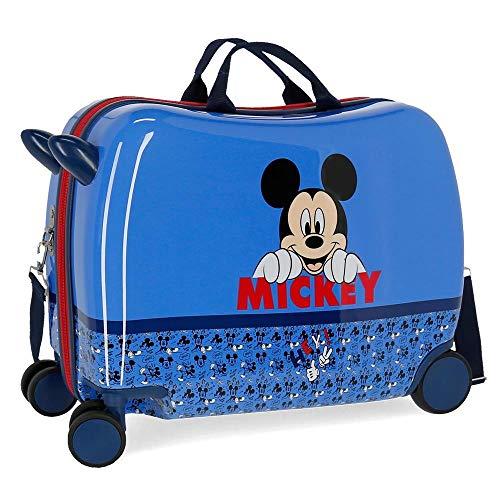 Disney Mickey Moods Valigia per bambini Rosso 50x38x20 cms Rigida Poliestere Chiusura a combinazione numerica 34L 2,1Kgs 4 Ruote Bagaglio a mano