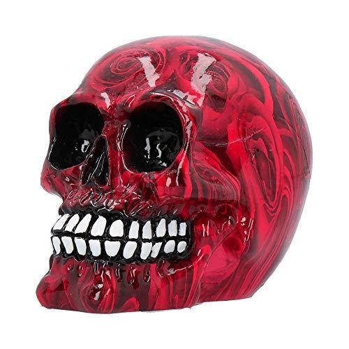 Nemesis Now Romance Red Rose Print Mini 11cm Skull Ornament