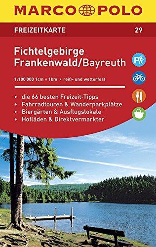 MARCO POLO Freizeitkarte Fichtelgebirge, Frankenwald, Bayreuth: Toeristische kaart 1:100 000
